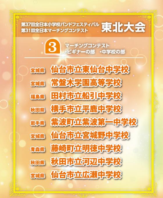 【マーチング ブルーレイ】第31回全日本マーチングコンテスト東北大会 ビギナーの部&マーチングコンテスト中学校の部